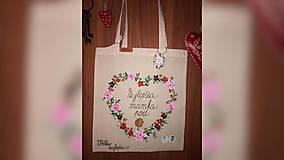 Nákupné tašky - ♥ Plátená, ručne maľovaná taška ♥ (MI1) - 9967145_