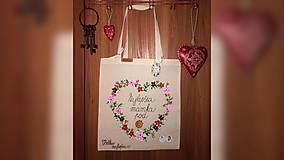 Nákupné tašky - ♥ Plátená, ručne maľovaná taška ♥ (MI1) - 9967146_