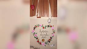 Nákupné tašky - ♥ Plátená, ručne maľovaná taška ♥ (MI1) - 9967148_