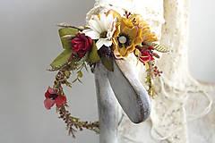Ozdoby do vlasov - Kvetinový venček ,,jesenné ráno,, - 9967918_