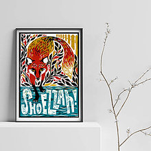 Grafika - Líška z IT Crowdu - A3 Print - 9969968_