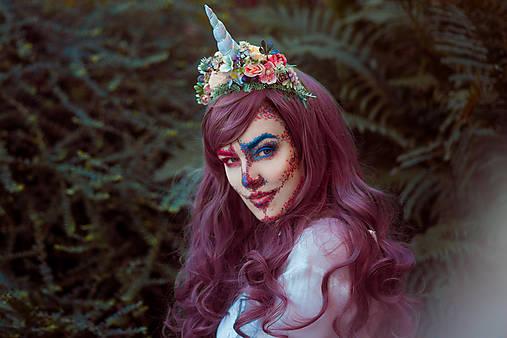 Kvetinová čelenka Jednorožec Halloween