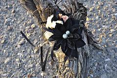 Ozdoby do vlasov - Hrebienok do vlasov Back in black - 9968874_