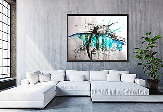 Obrazy - Blue conversation - 9967610_