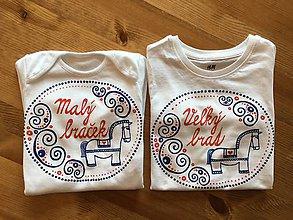 Detské oblečenie - Maľované ľudovoladené s koníkom a nápisom