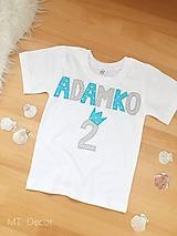 Detské oblečenie - DETSKÉ TRIČKO /personalizované chlapčenské tričko - 9970835_