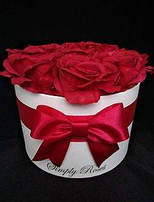 Dekorácie - Flower box Veronika (Bordová) - 9970310_