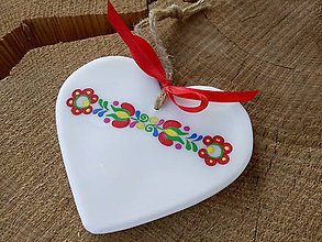 Dekorácie - Maľované srdce z vosku - 9970665_