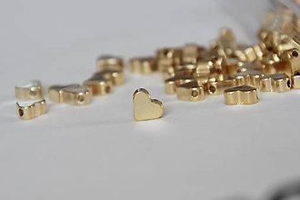 Korálky - Srdce 24K 7x6mm - 9970226_