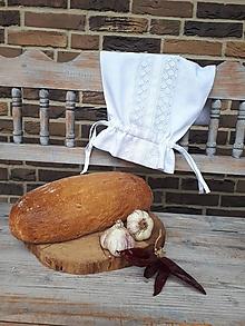 Úžitkový textil - Ľanové vrecko na chlieb Love Lace - 9969843_