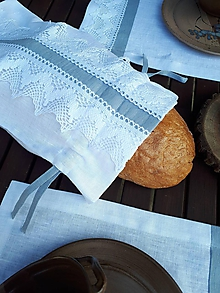Úžitkový textil - Ľanové vrecko na chlieb Cottage Dream - 9969891_