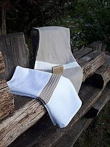 Úžitkový textil - Ľanová osuška a uterák Pure Linen I - 9970003_