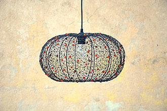 Svietidlá a sviečky - Dýně. Drátovaný lustr. - 9973543_