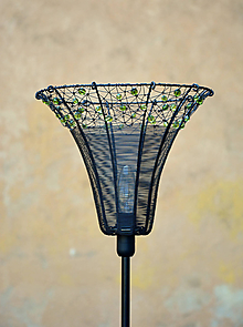 Svietidlá a sviečky - Oliva. Drátovaná lampička. - 9974961_