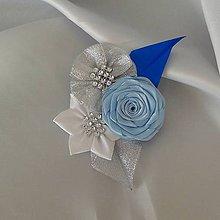 Pierka - Pierko pre ženícha modré odtiene - 9974198_
