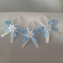 Pierka - Pierka pre svadobných hostí - rôzne modré odtiene - 9974303_