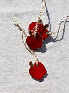 Dekorácie - Keramické jabĺčko - 9972048_