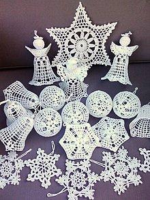 Dekorácie - Háčkované vianočné ozdoby II - 9971793_