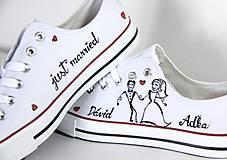 Obuv - nízke tenisky svadobné s krídlami - 9971542_
