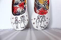Obuv - svadobné balerínky postavičky 1 - 9972035_