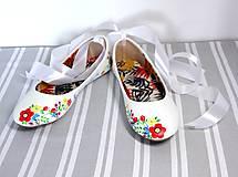 Obuv - svadobné balerínky - jarné kvietky - 9972681_