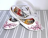 Obuv - svadobné balerínky - japonská čerešňa - 9972772_