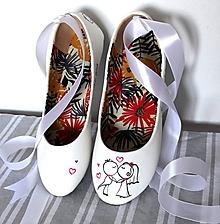 Obuv - svadobné balerínky simple - 9971846_