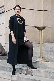 Iné oblečenie - FNDLK Dlouhá vesta se šálovým lemem 327 - 9975068_