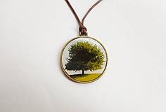 Náhrdelníky - Náhrdelník - Zelený strom - 9974037_