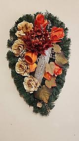 spomienkový, dušičkový jesenný veniec 58 cm