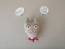 Odznaky/Brošne - Mačička - reflexná brošnička* - 9971350_