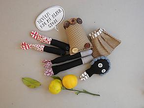 Hračky - Gombíková bábika Moka - 9973741_