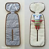 Textil - RUNO SHOP Hrejivý sedák do autosedačky 0-18 kg 100% Ovčie runo proti prechladnutiu a prehriatiu šedá GREY - 9972226_