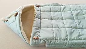 Textil - RUNO SHOP fusak pre deti do kočíka 100% ovčie runo MERINO TOP super wash ELEGANT Rainbow MINT Mentolová - 9974371_
