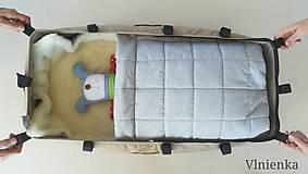 Textil - RUNO SHOP fusak pre deti do kočíka 100% ovčie runo MERINO TOP super wash ELEGANT Rainbow MINT Mentolová - 9974406_