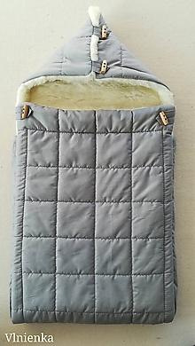 Textil - RUNO SHOP fusak pre deti do kočíka 100% ovčie runo MERINO TOP super wash ELEGANT Rainbow grey - 9974317_