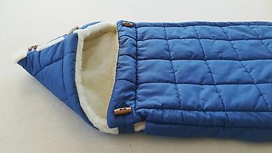 Textil - RUNO SHOP fusak pre deti do kočíka 100% ovčie runo MERINO TOP super wash ELEGANT Rainbow ROYAL BLUE Kráľovská modrá - 9974512_
