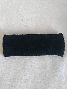 Ozdoby do vlasov - Dámska pletená čelenka čierna - 9971315_