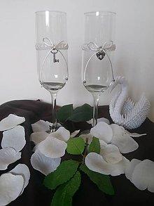 Nádoby - Svadobné poháre jednoduché - 9971418_