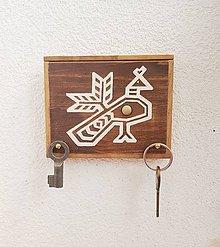 Nábytok - Čičmanský motív (vešiak, obrázok, dekorácia) - 9975133_