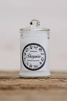 Svietidlá a sviečky - Sójová sviečka - Aromaterapia - Škorpión - 9971212_