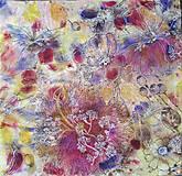 Šatky - Voňavá jeseň- hodvábna maľovaná šatka s kvetmi a makovicami - 9973841_