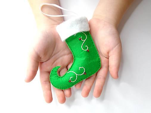 Škriatkovské čižmičky- dekorácia (Zelená)