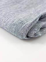 Doplnky - Pánsky exkluzívny šál z ľanu so vzorom