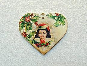 Dekorácie - Drevený obrázok Vianočný - 9972098_