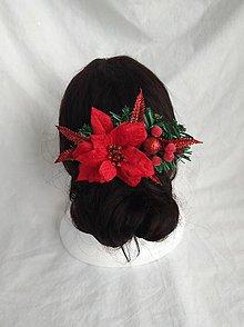 Ozdoby do vlasov - Vianocny hrebienok - 9971920_