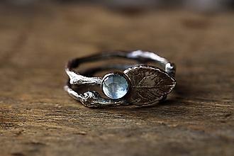 Prstene - Vetvičkové s lístočkom a topásom - sada strieborných prsteňov - 9971944_