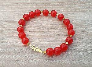 Náramky - Dámsky náramok - jadeit, hematit, pozlátené striebro - 9973931_