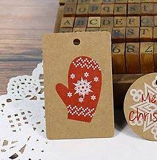 Papier - Visačka vianočná RUKAVIČKA 7 x 4 cm - 9971410_