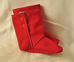 Topánočky - VÝPREDAJ - Softshellové červené čižmičky 12-18 mesiacov - 9972375_